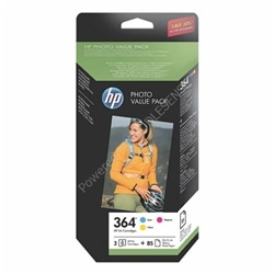 Tint. - kit papel HP 364 Series Photo Value Pack - Amarelo,c - 10.4.9.102.49.1273